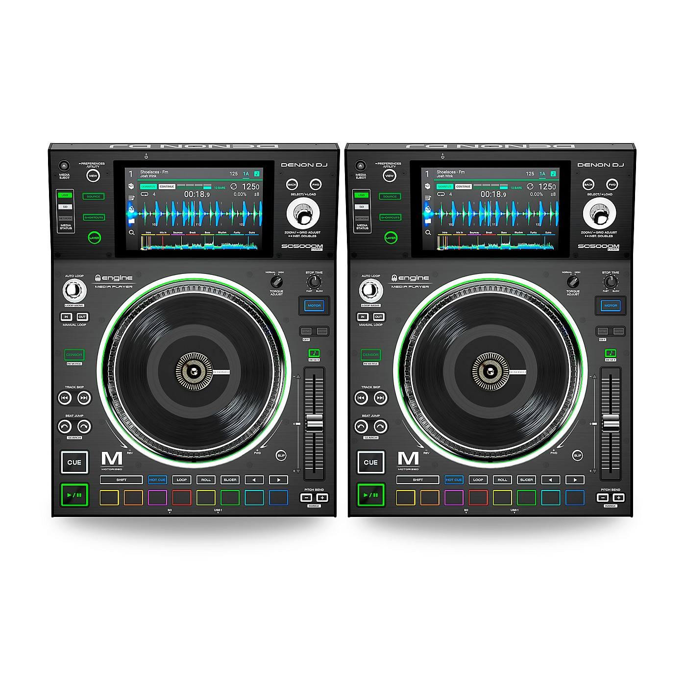 Denon SC5000M Prime Professional Motorized DJ Media Players (Pair) thumbnail