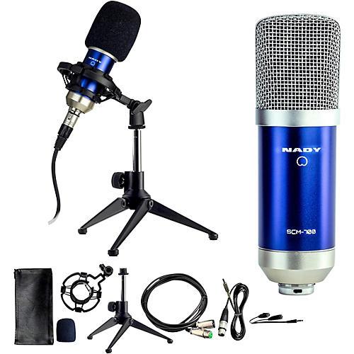 Nady SCM-700 8-Piece Studio Condenser Microphone Podcast Bundle thumbnail