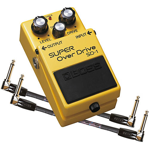 Boss SD-1 Super OverDrive Effects Pedal and Two 6-Inch Jumper Cables Bundle thumbnail