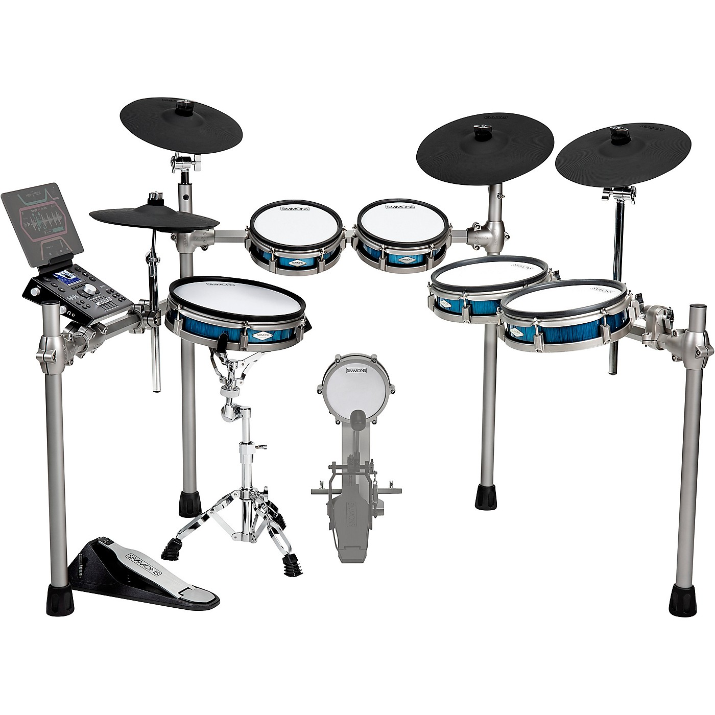 Simmons SD1200 Expanded Electronic Drum Kit with Mesh Pads thumbnail