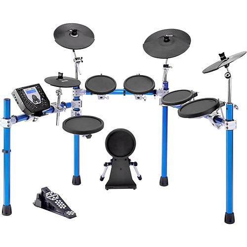 Simmons SD1500 Electronic Drum Set with Blue Metallic Rack thumbnail