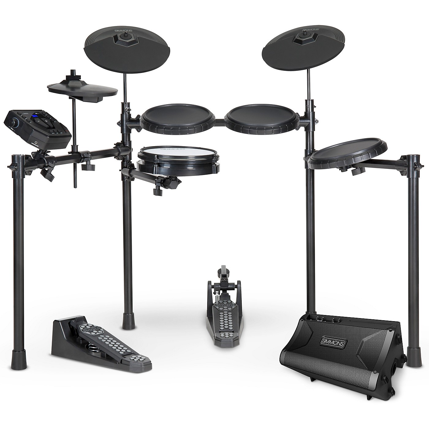 Simmons SD200 Electronic Drum Kit with Mesh Pads and DA2108 Drum Set Monitor thumbnail
