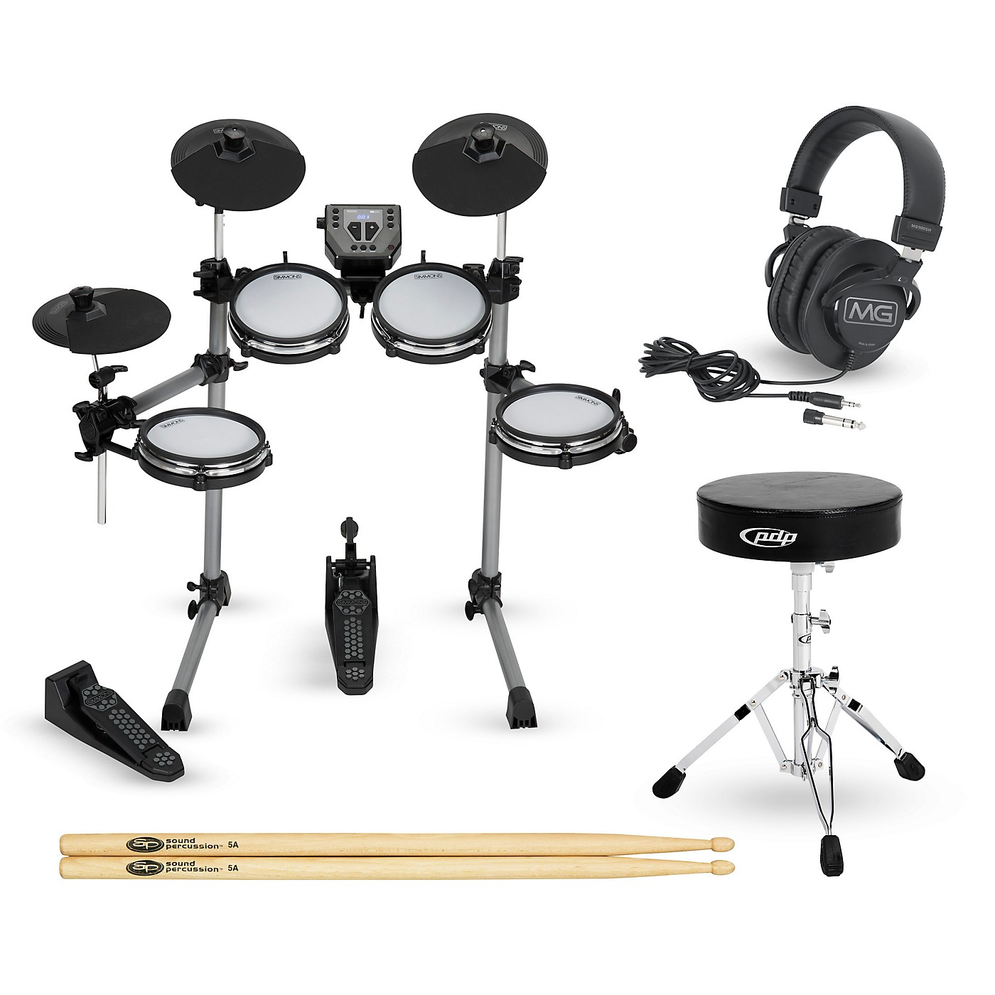 Simmons SD350 Complete Electronic Drum Set with Mesh Pads thumbnail