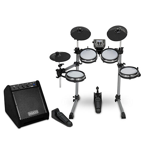 Simmons SD350 Electronic Drum Kit with Mesh Pads and Simmons DA25 Drum Set Monitor thumbnail