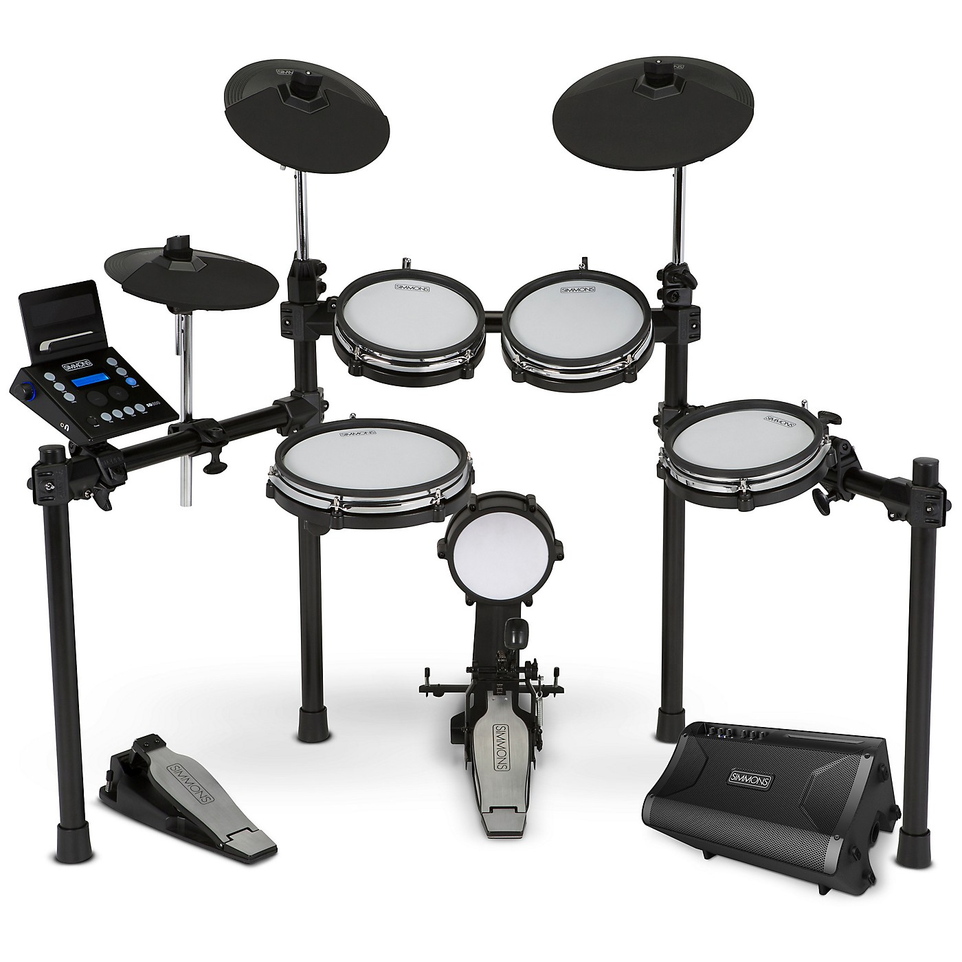 Simmons SD600 Electronic Drum Kit With Mesh Pads, Bluetooth and DA2110 Drum Set Monitor thumbnail