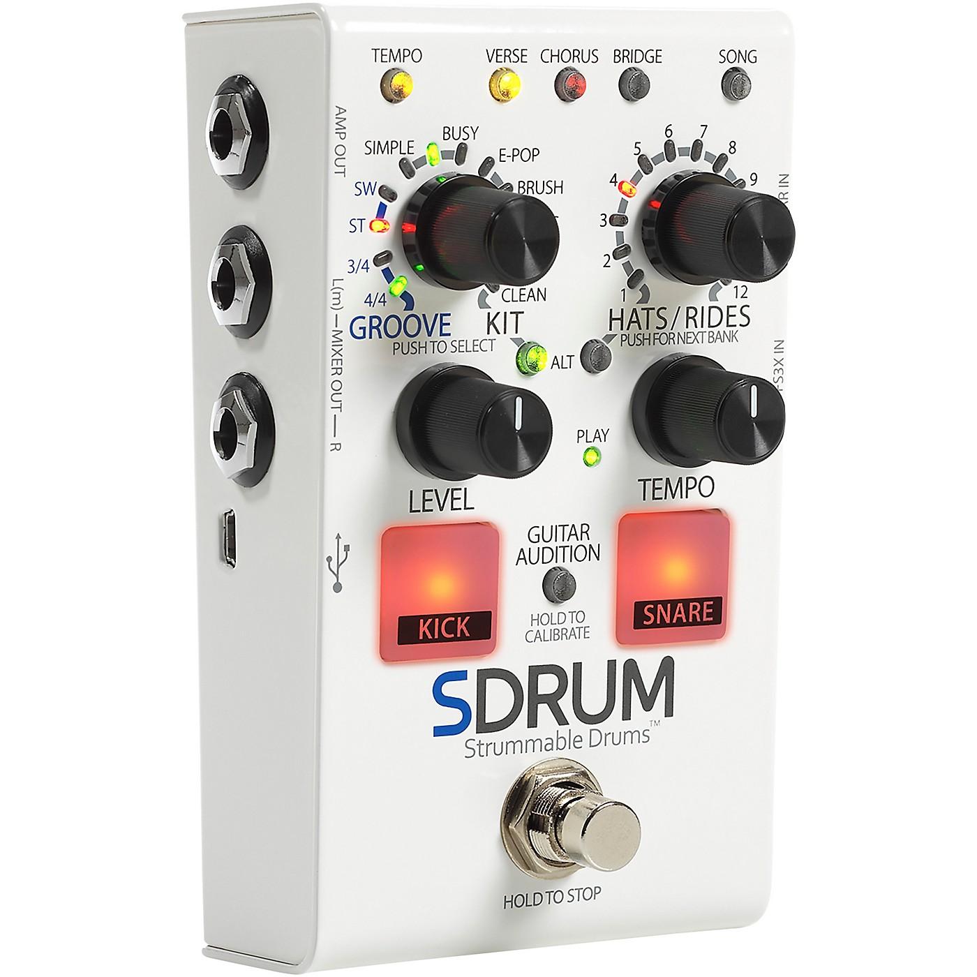 Digitech SDRUM Auto-Drummer Pedal with BeatScratch Pads thumbnail