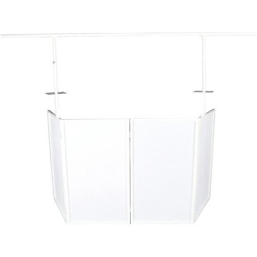 Novopro SDX V2 Portable DJ Booth w/ Lighting Bar, Shelves and Bags (White) thumbnail