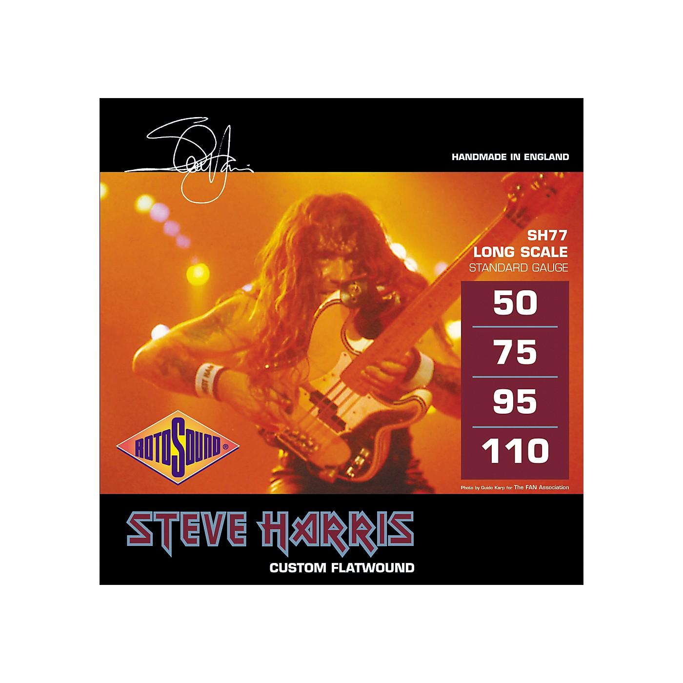 Rotosound SH77 Steve Harris Signature Flat Wound Bass Strings thumbnail