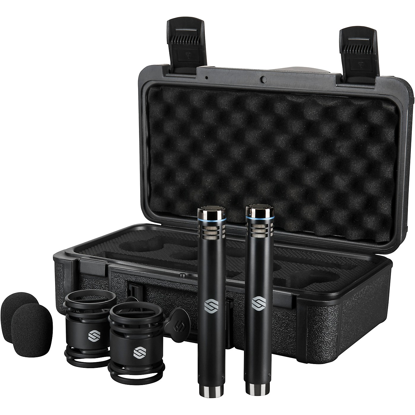Sterling Audio SL230MP Matched Pair, Medium Diaphragm Condenser Microphones with Shockmounts, Windscreens, and Carry Case thumbnail