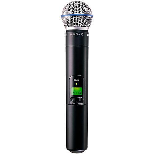 Shure SLX2/Beta58 Wireless Handheld Transmitter Microphone thumbnail