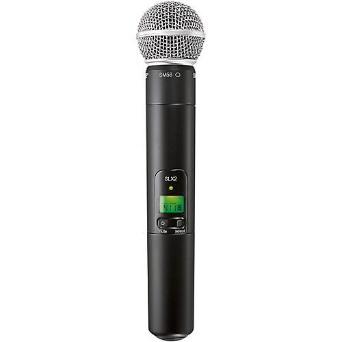 Shure SLX2/SM58 Wireless Handheld Microphone thumbnail
