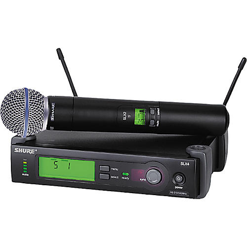 Shure SLX24/BETA58 Wireless Handheld Microphone System thumbnail