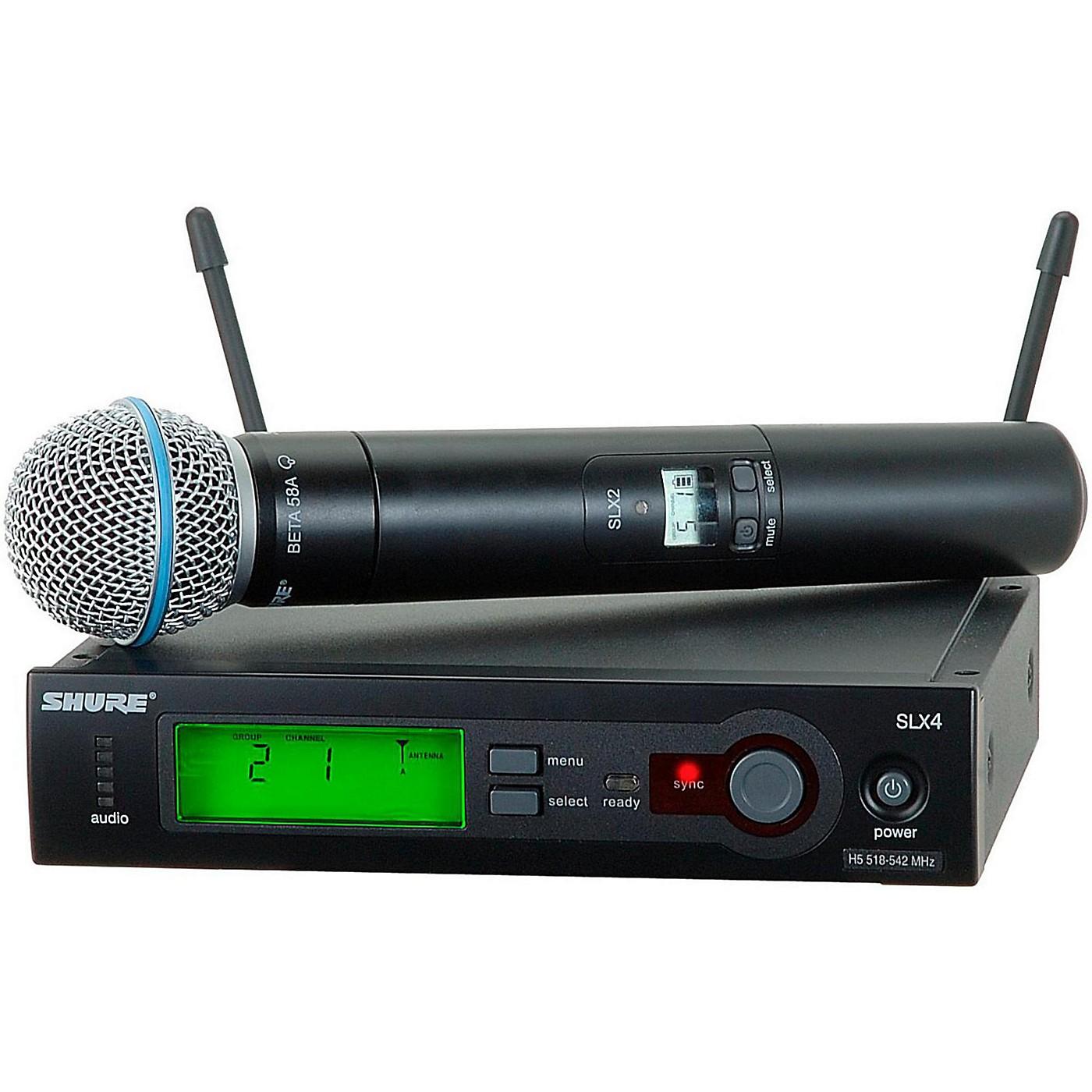 Shure SLX24/BETA58 Wireless Handheld Microphone System thumbnail