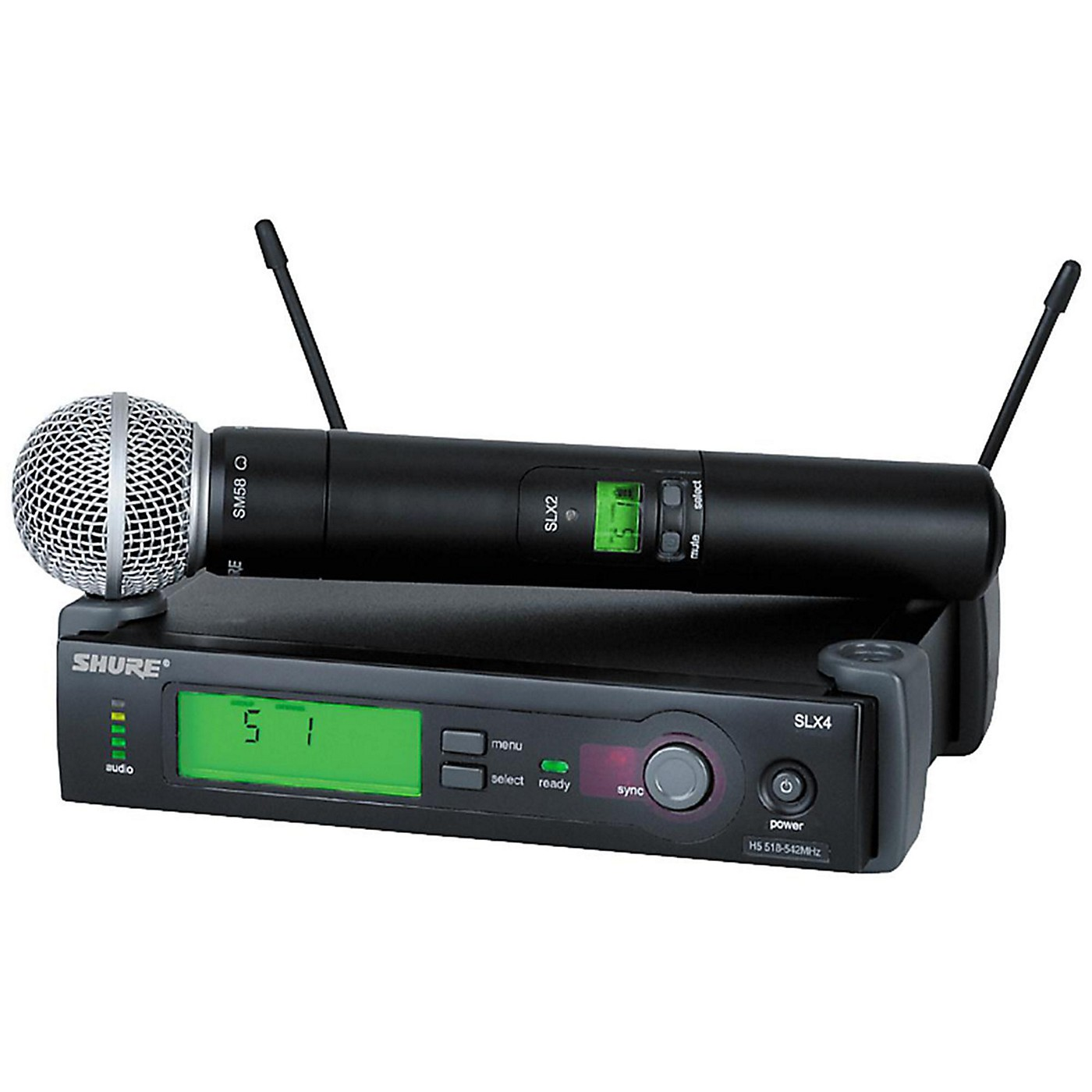 Shure SLX24/SM58 Wireless Microphone System thumbnail