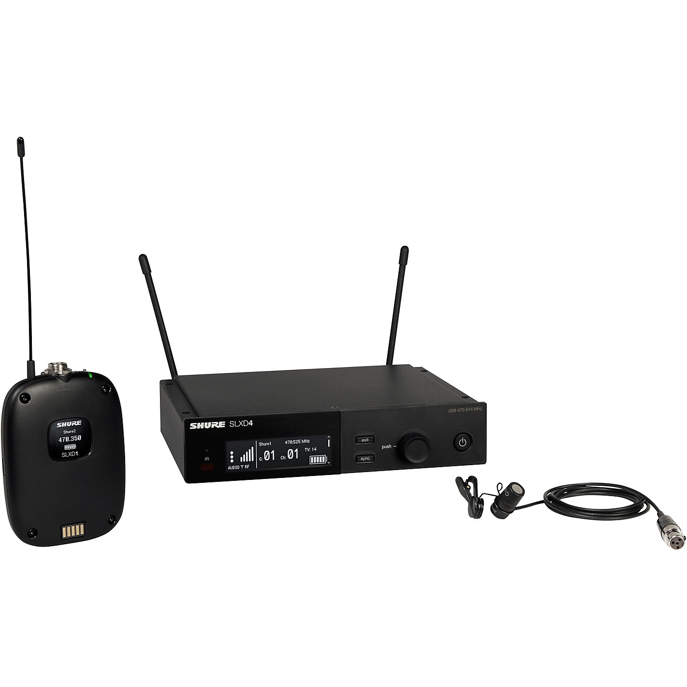 Shure SLXD14/85 Combo Wireless Microphone System thumbnail