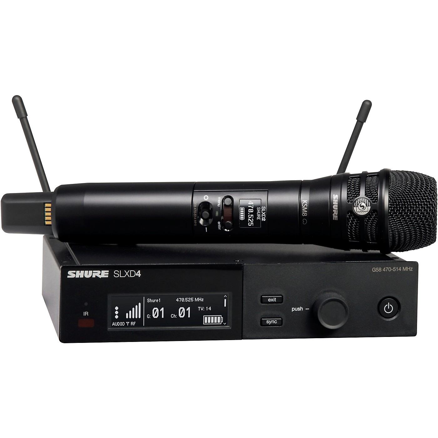 Shure SLXD24/K8B Wireless Vocal Microphone System with KSM8 thumbnail