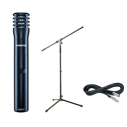Shure SM137 Condenser Mic with Cable and Stand thumbnail