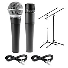 Shure SM57 & SM58, Stand & Cable Package