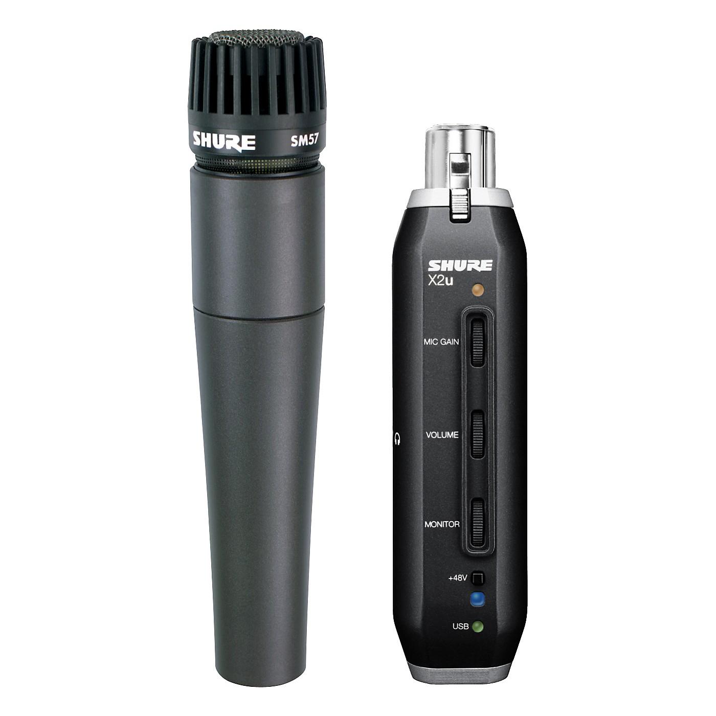 Shure SM57-X2U SM57 MIC WITH XLR-TO-USB PACKAGE thumbnail