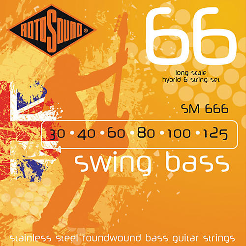 Rotosound SM66 Trubass 4-String Roundwound Bass Strings thumbnail
