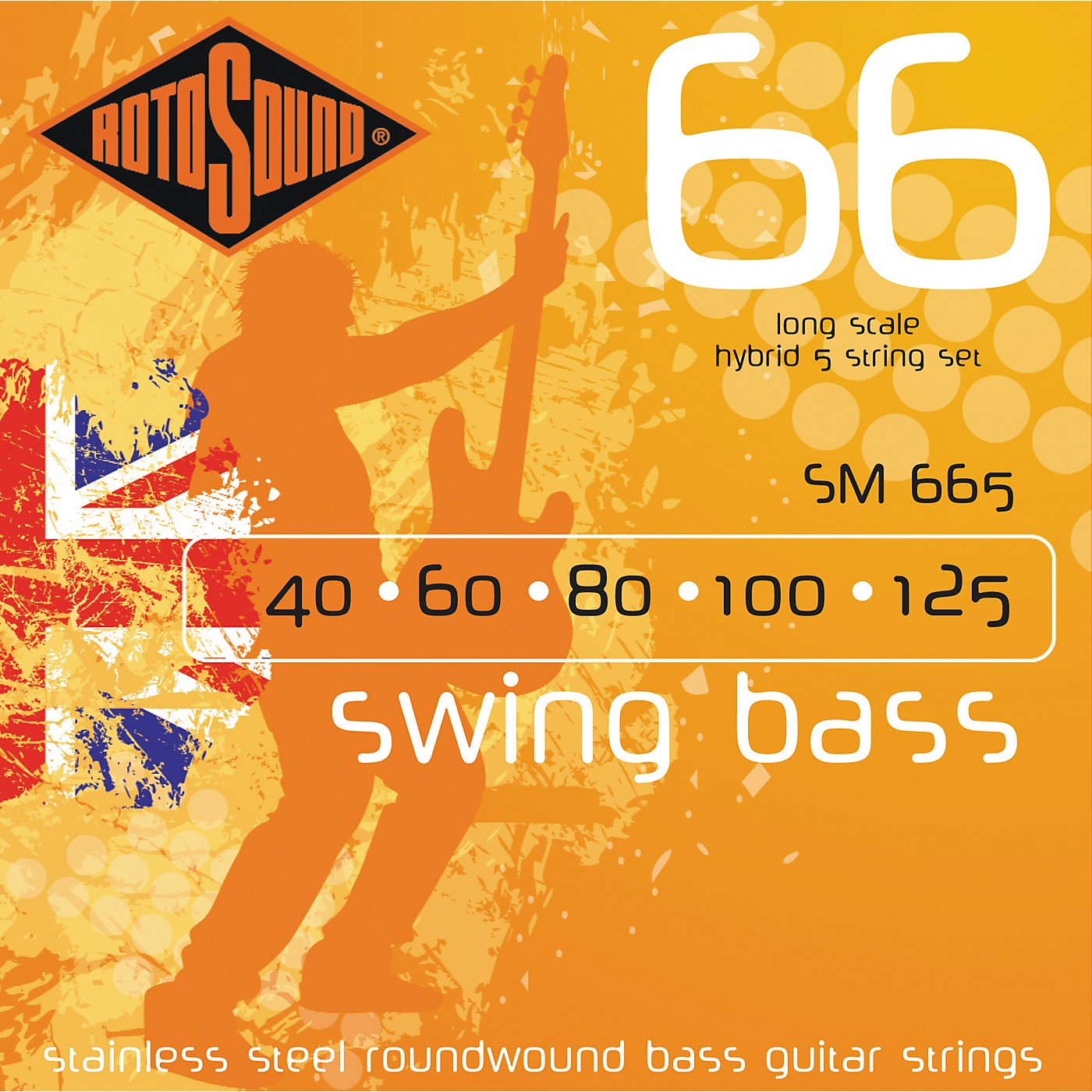 Rotosound SM665 Swing Bass 5-String RoundwoundBass Strings thumbnail