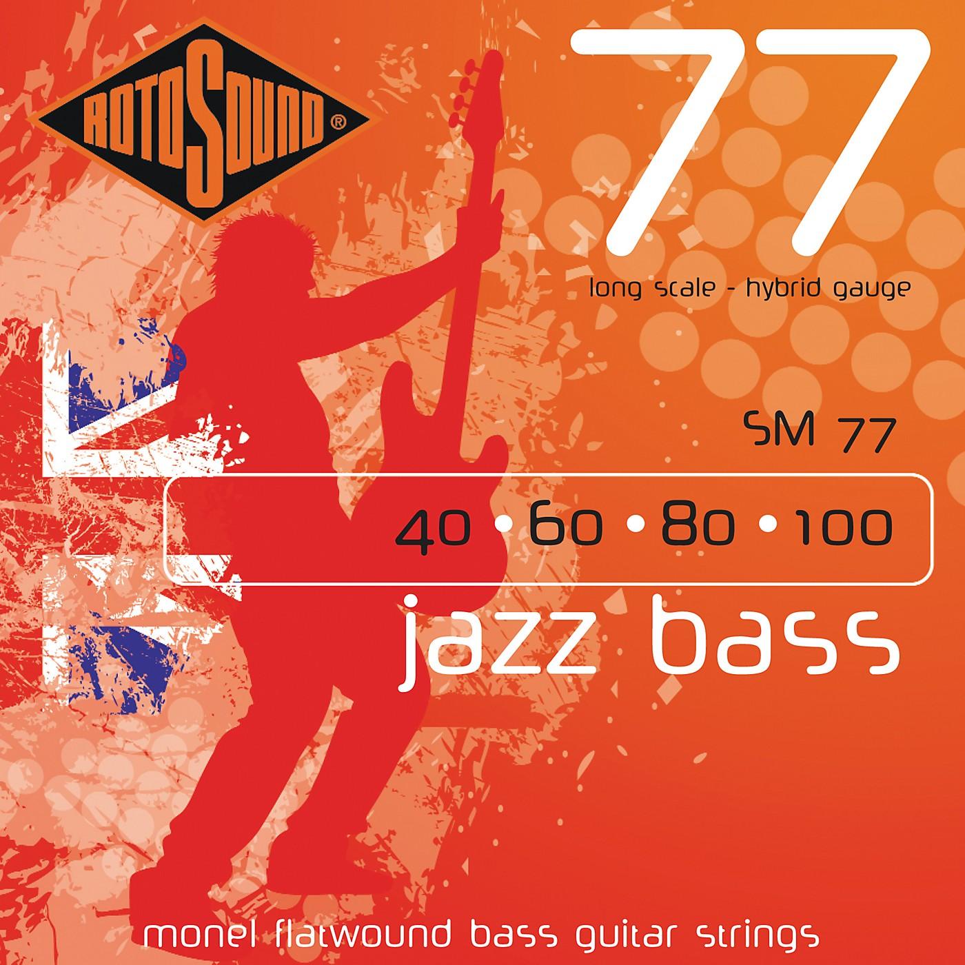 Rotosound SM77 Jazz Bass Monel Flatwound Strings thumbnail