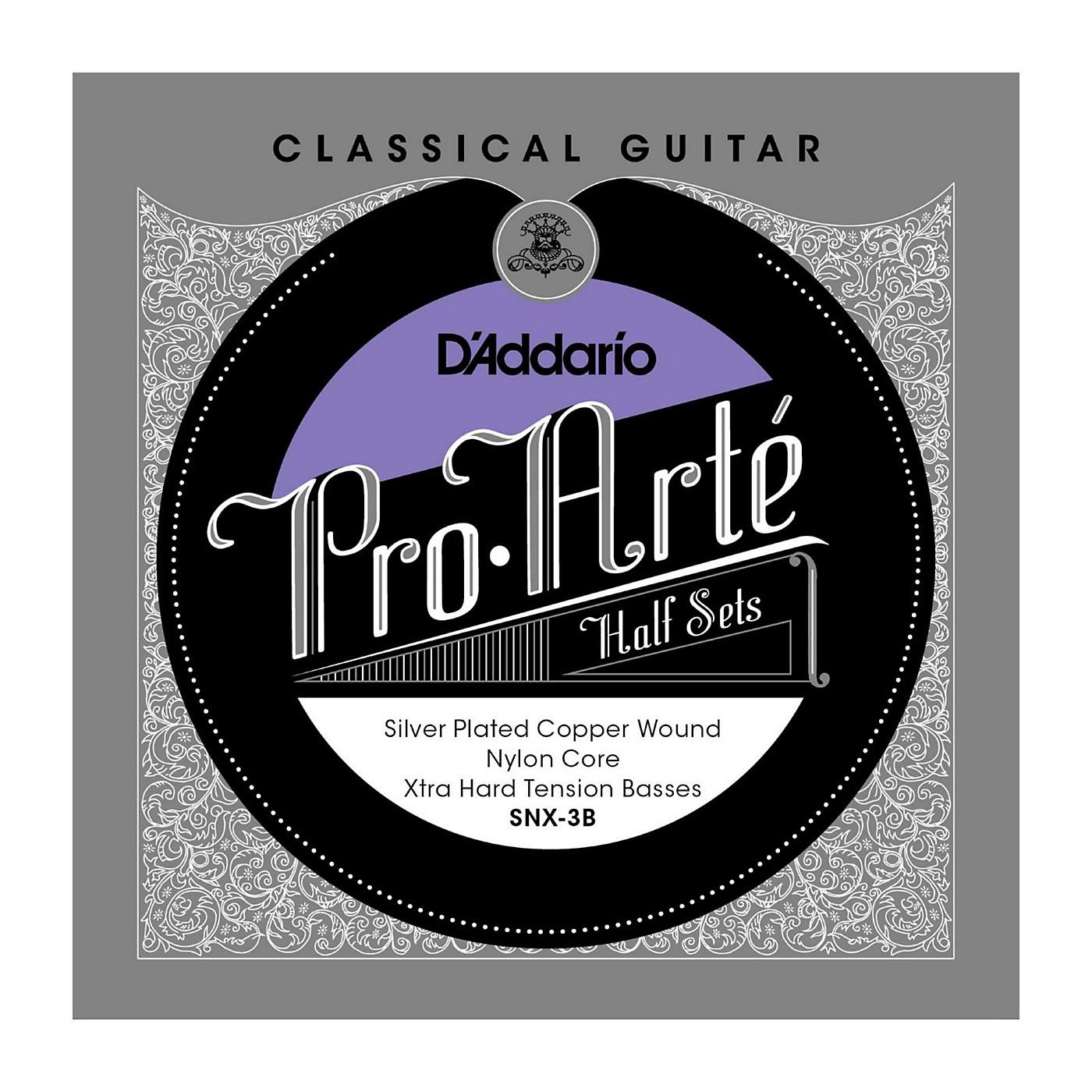 D'Addario SNX-3B Pro-Arte Extra Hard Tension Classical Guitar Strings Half Set thumbnail