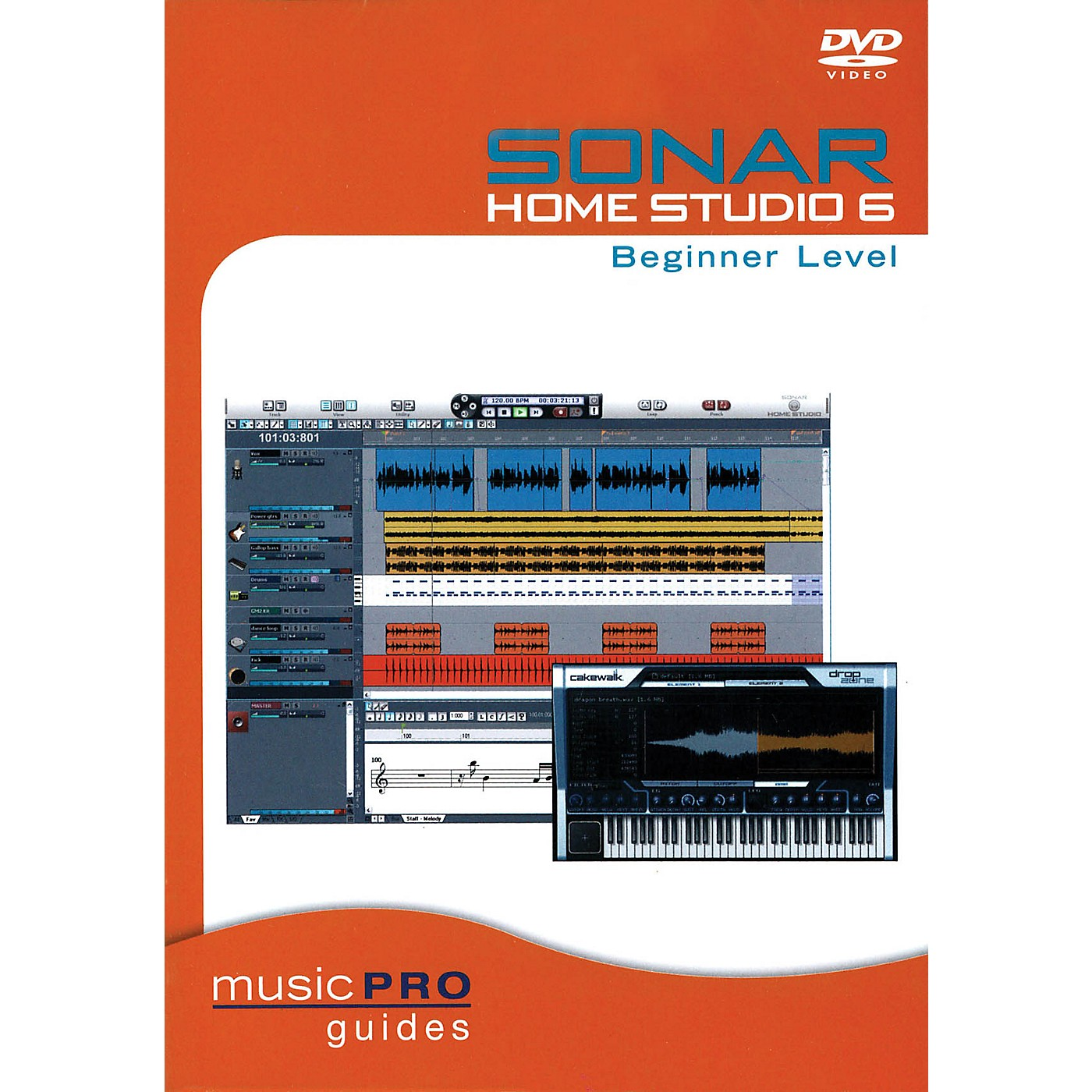 Hal Leonard SONAR Home Studio 6 Beginner Level (Music Pro Guides) Music Pro Guide Books & DVDs Series DVD by Various thumbnail