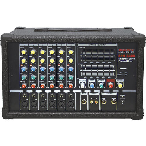 Nady SPM-6300 6-Channel Powered Mixer with DSP thumbnail