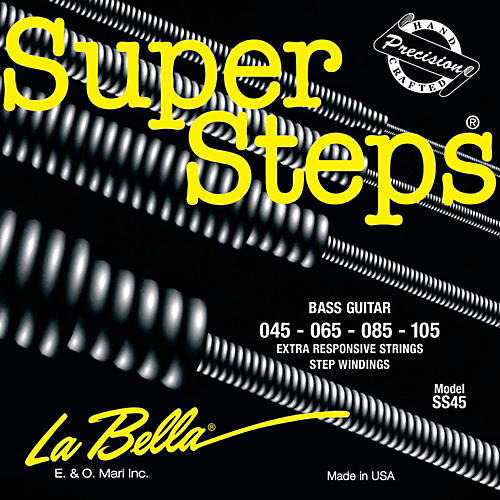 LaBella SS45 Super Steps Standard Electric Bass Strings thumbnail
