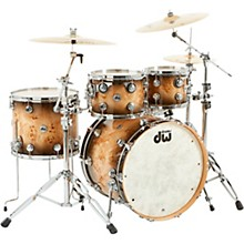"DW SSC Collector's Series 4-Piece Exotic Maple Shell Pack with 22"" Bass Drum and Chrome Hardware"