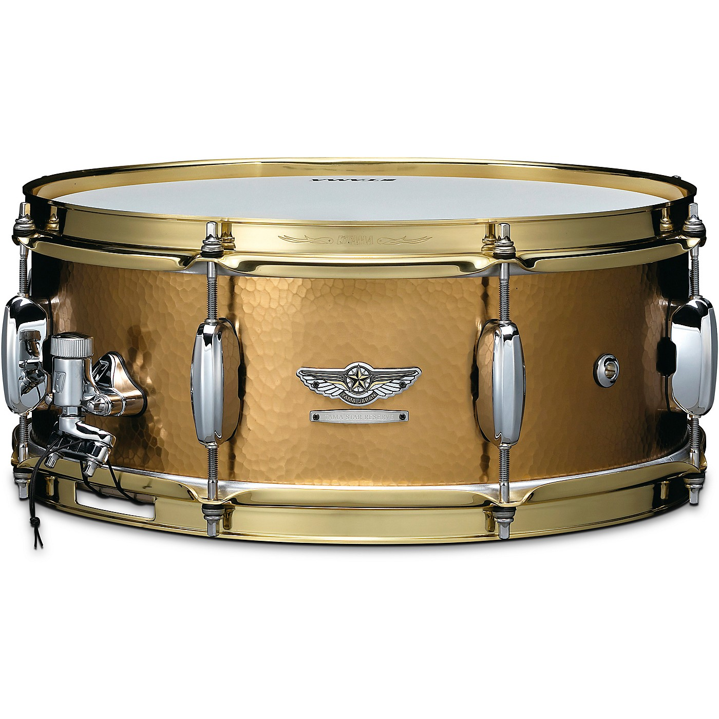 TAMA STAR Reserve Hand Hammered Brass Snare Drum thumbnail
