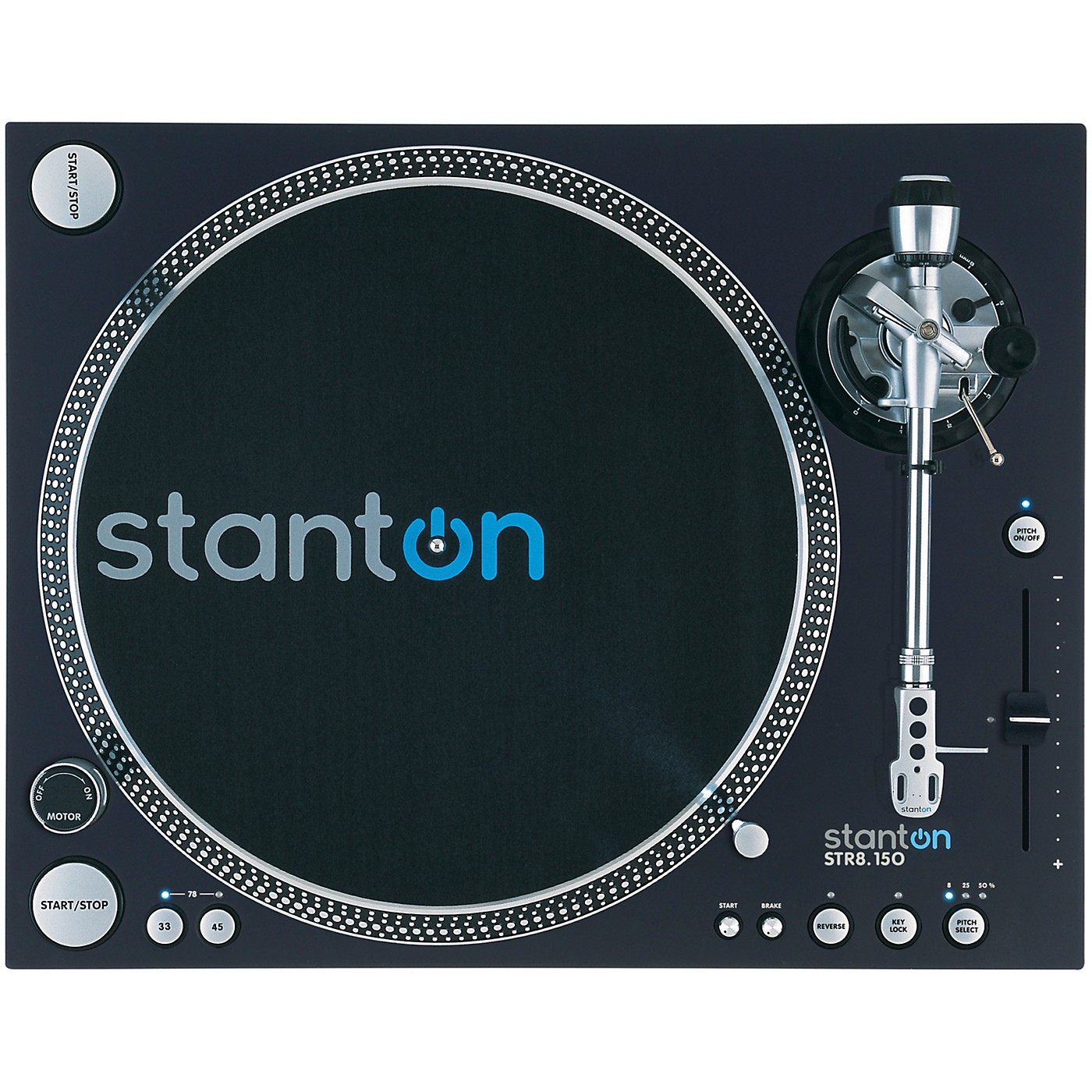 Stanton STR8.150 M2 Direct Drive Professional DJ Turntable with Straight Tone Arm thumbnail