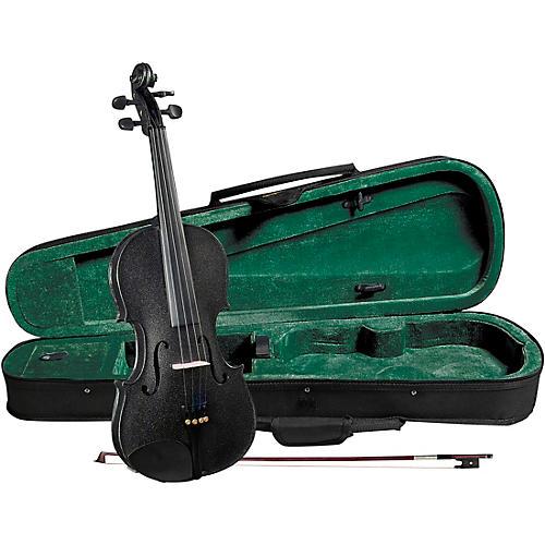 Cremona SV-75BK Premier Novice Series Sparkling Black Violin Outfit thumbnail