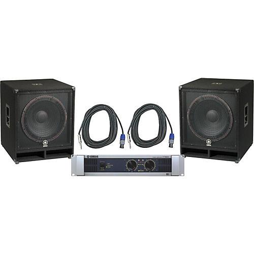 Yamaha SW118V/ P7000S Speaker & Amp Package thumbnail