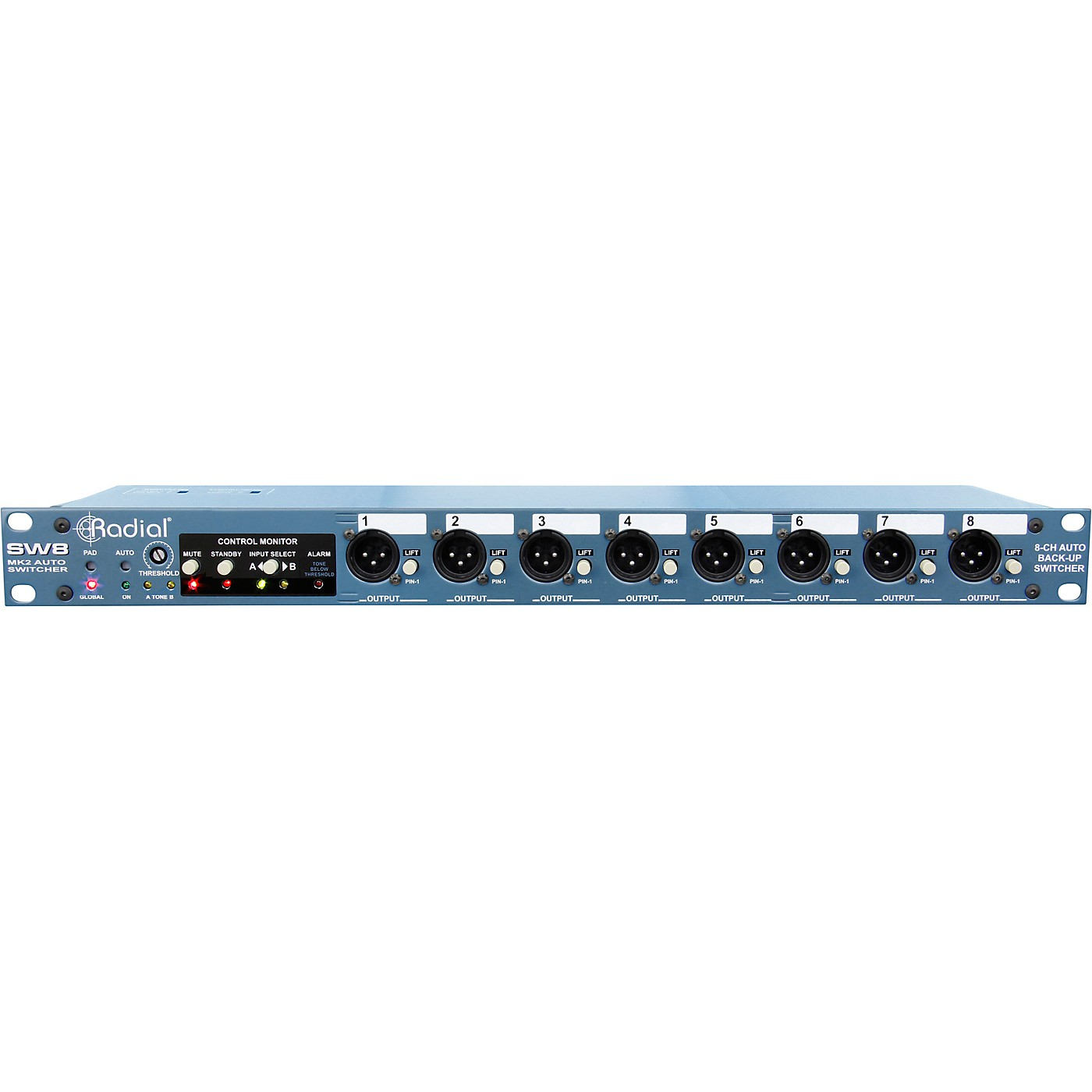Radial Engineering SW8 8-Channel Passive Auto Switcher thumbnail