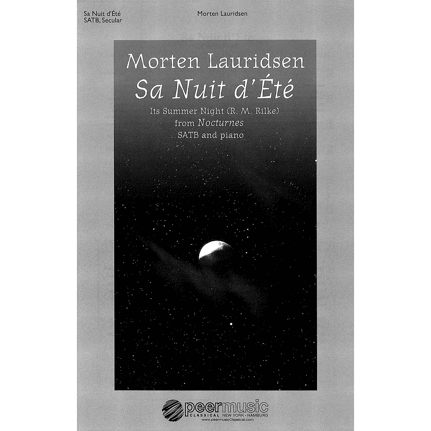 Peer Music Sa nuit d'ete (from Nocturnes SATB and Piano) Composed by Morten Lauridsen thumbnail