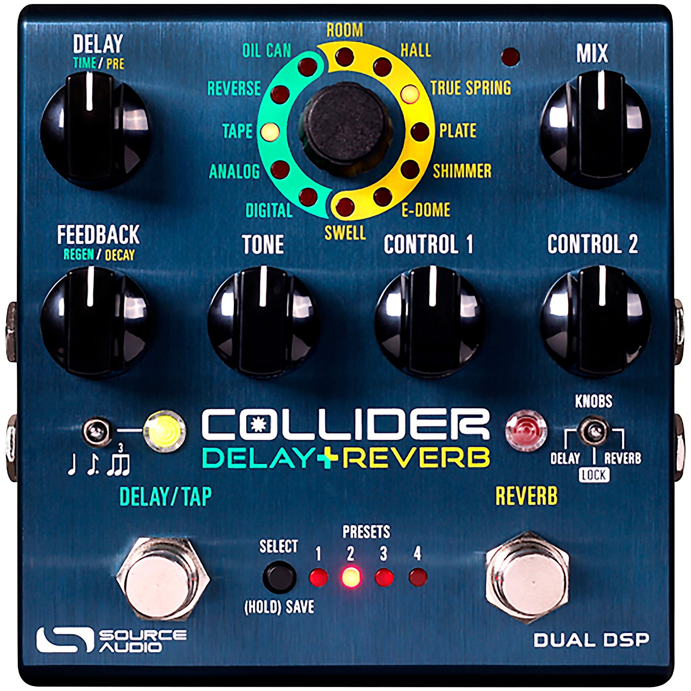 Source Audio Sa263 Collider Stereo Delay Reverb Effects Pedal thumbnail