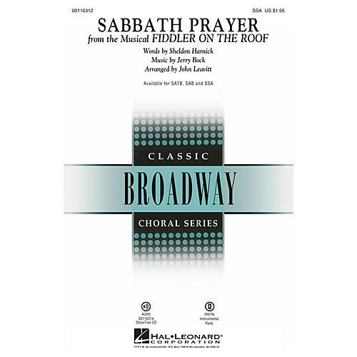 Hal Leonard Sabbath Prayer (from Fiddler on the Roof) SSA by Fiddler On The Roof (Musical) by John Leavitt thumbnail