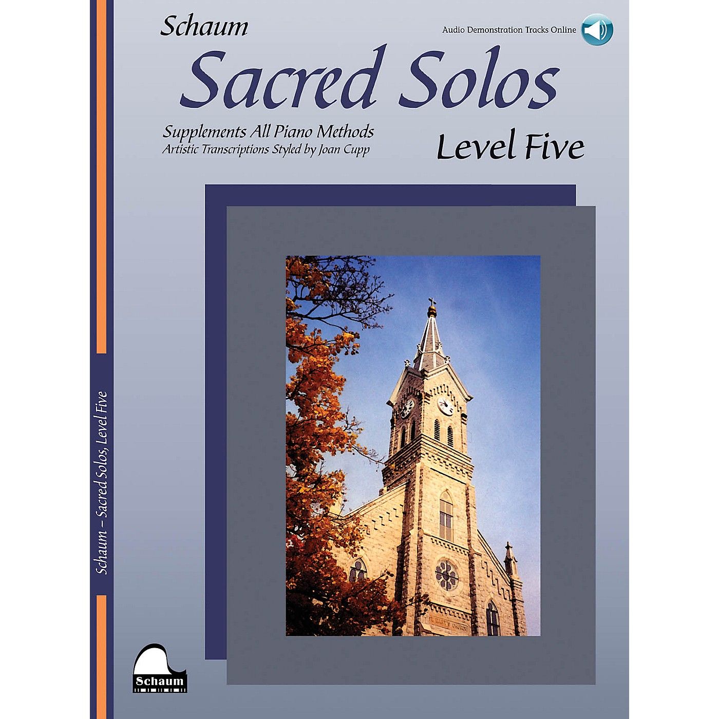 SCHAUM Sacred Solos - Level Five Educational Piano Book with CD (Level Upper Inter) thumbnail