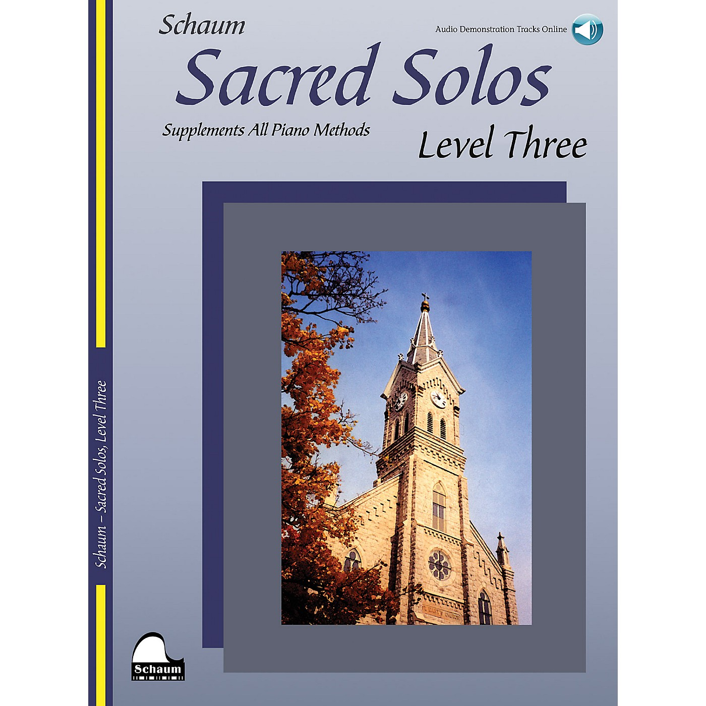 SCHAUM Sacred Solos - Level Three Educational Piano Book with CD (Level Early Inter) thumbnail