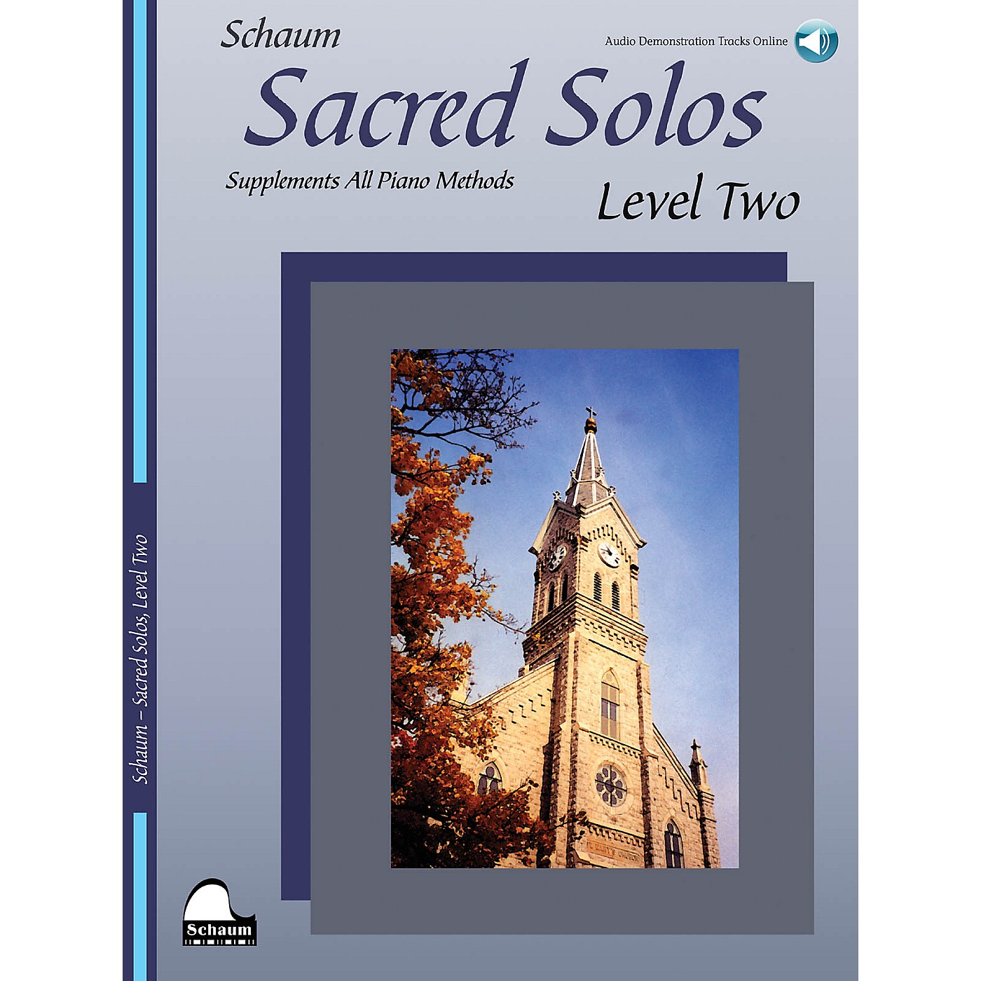 SCHAUM Sacred Solos (Level Two) Educational Piano Book with CD (Level Early Inter) thumbnail