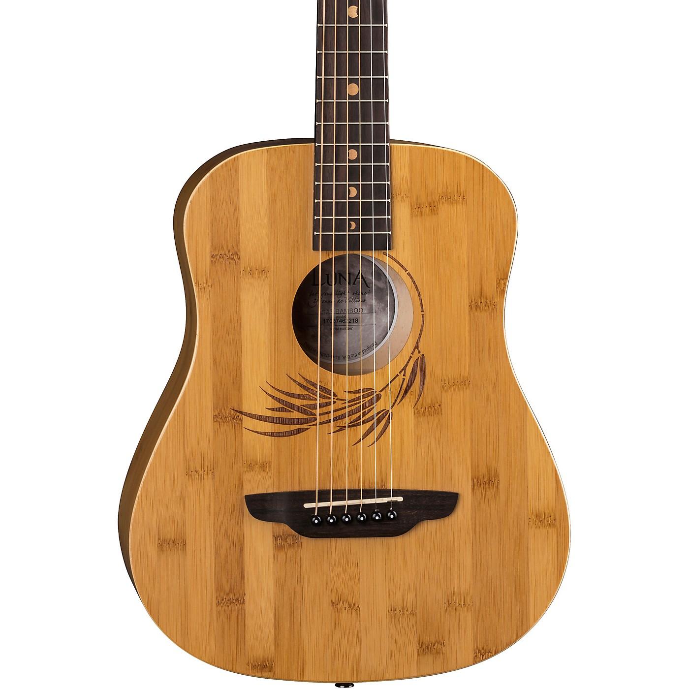Luna Guitars Safari Bamboo 3/4 Satin Natural Acoustic Guitar thumbnail