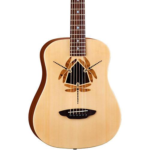 Luna Guitars Safari Dragonfly 3/4 Size Travel Acoustic Guitar-thumbnail