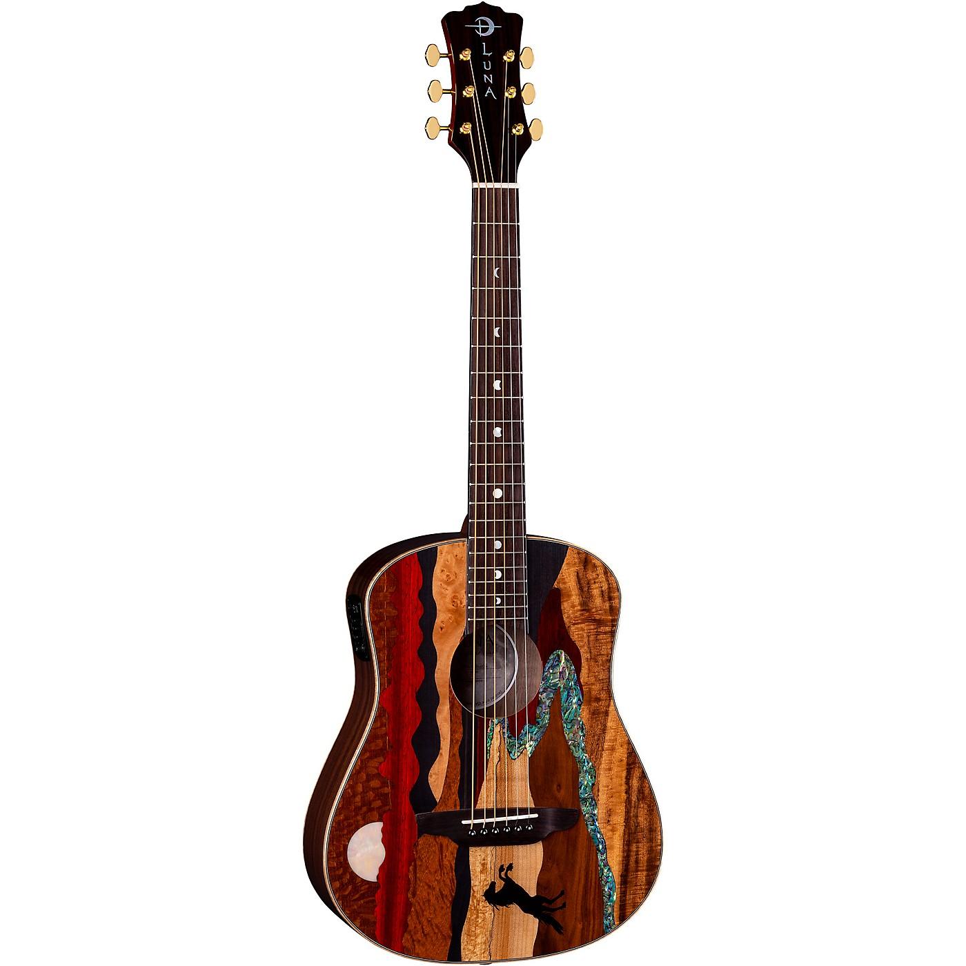 Luna Guitars Safari Stallion Acoustic-Electric Travel Guitar with Gigbag thumbnail