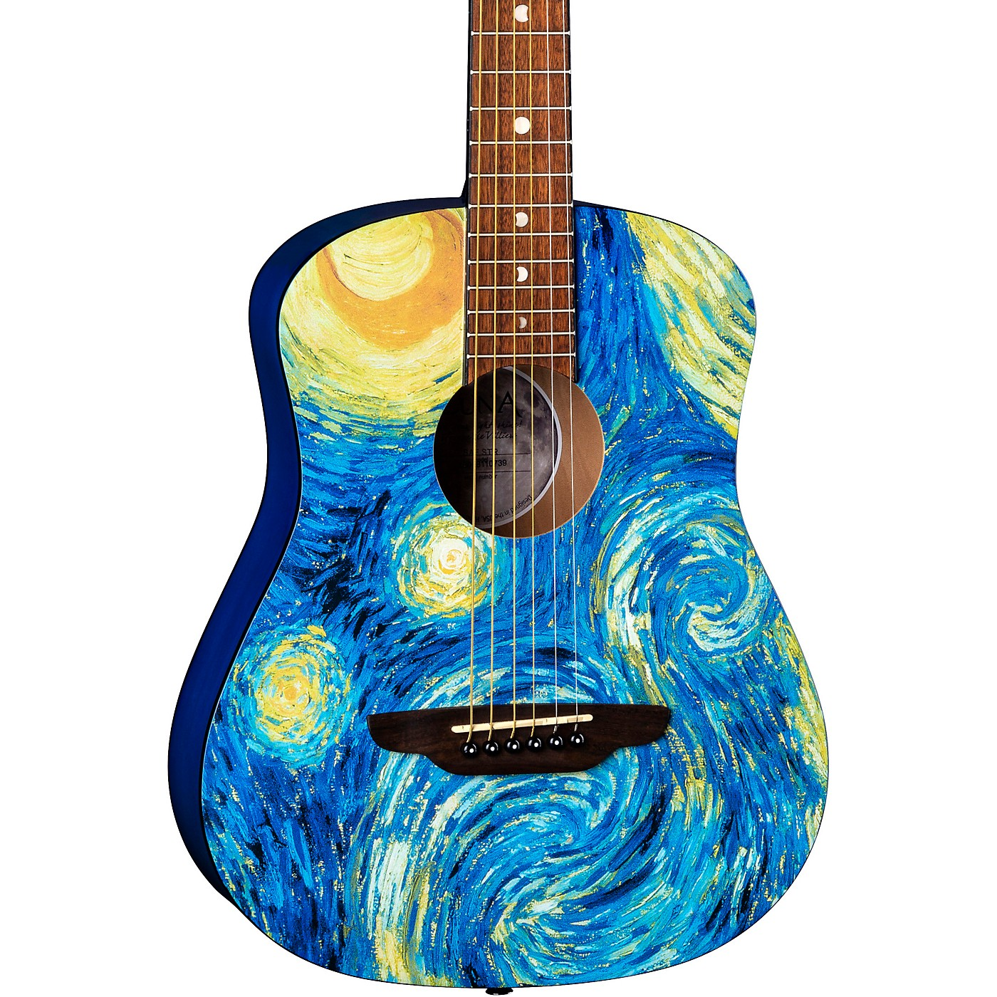 Luna Guitars Safari Starry Night 3/4 Size Travel Acoustic Guitar thumbnail