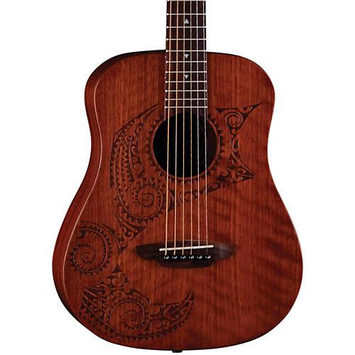Luna Guitars Safari Tattoo 3/4 Size Travel Guitar thumbnail