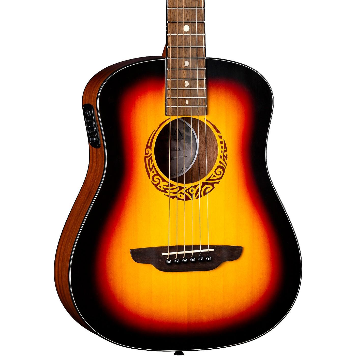 Luna Guitars Safari Tribal 3/4 Size Travel Acoustic/Electric Guitar thumbnail