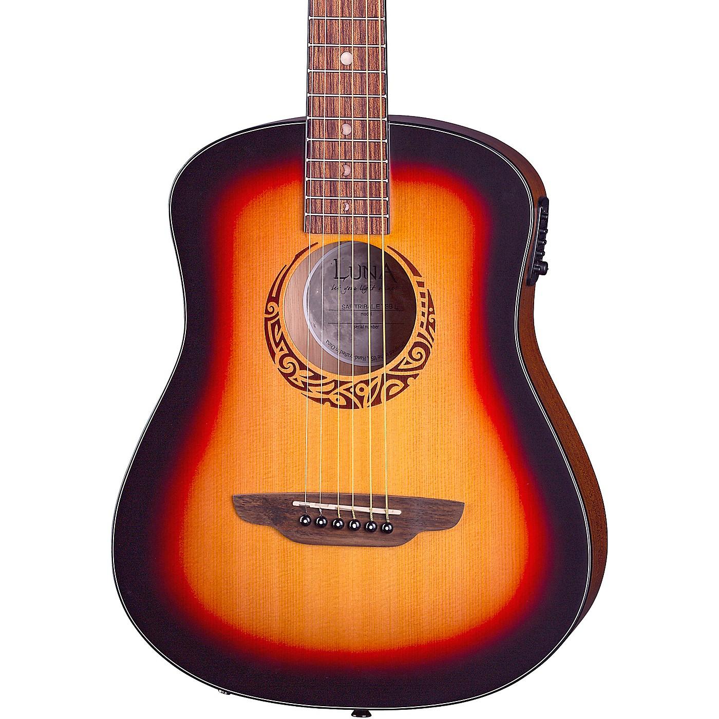 Luna Guitars Safari Tribal Travel Acoustic-Electric Left-Handed Guitar thumbnail