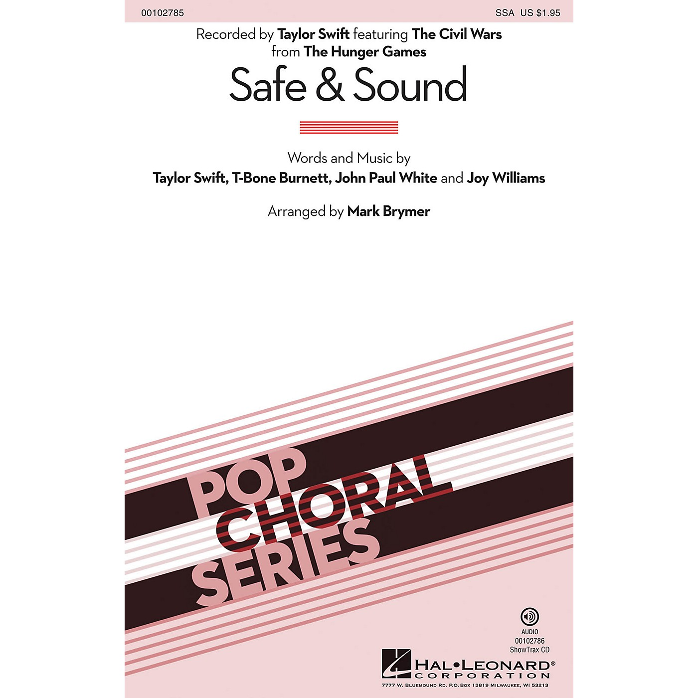 Hal Leonard Safe & Sound (from The Hunger Games) (from The Hunger Games) SSA by Taylor Swift arranged by Mark Brymer thumbnail
